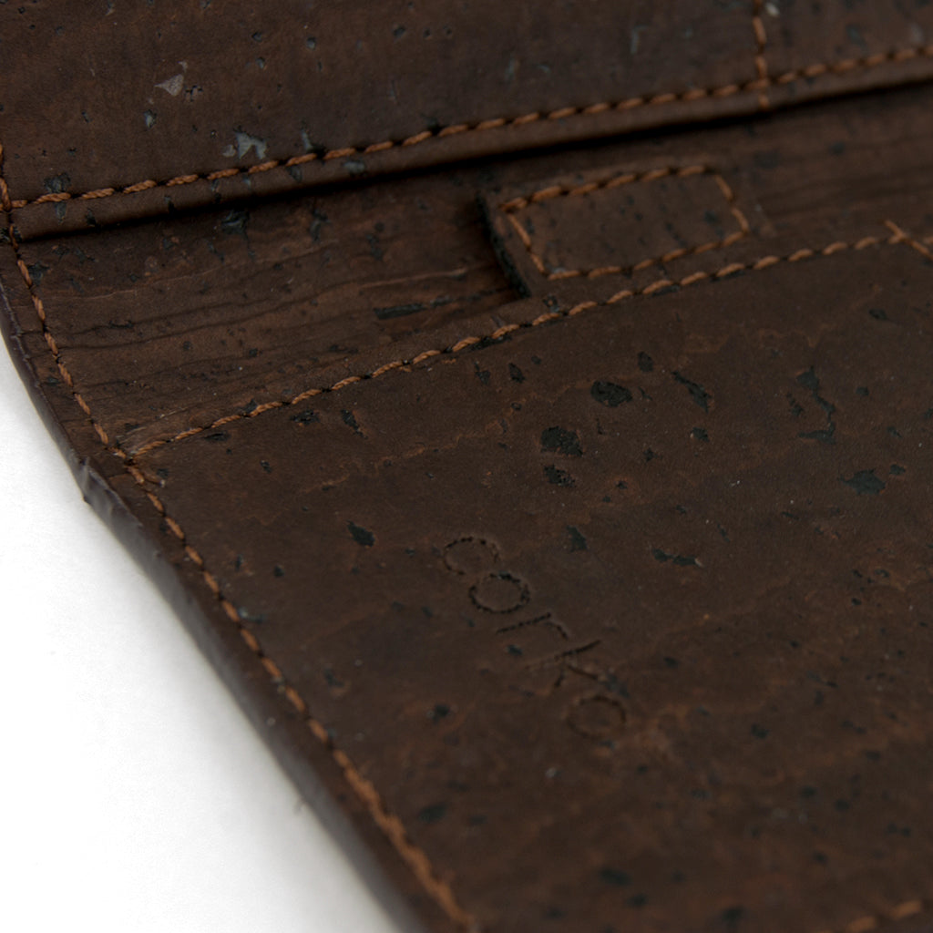 Minimal Cork Wallet RFID Blocking - Brown