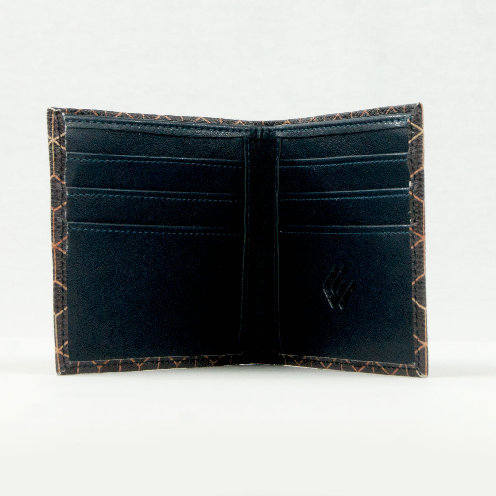 Geo Print Vegan Leather Wallet
