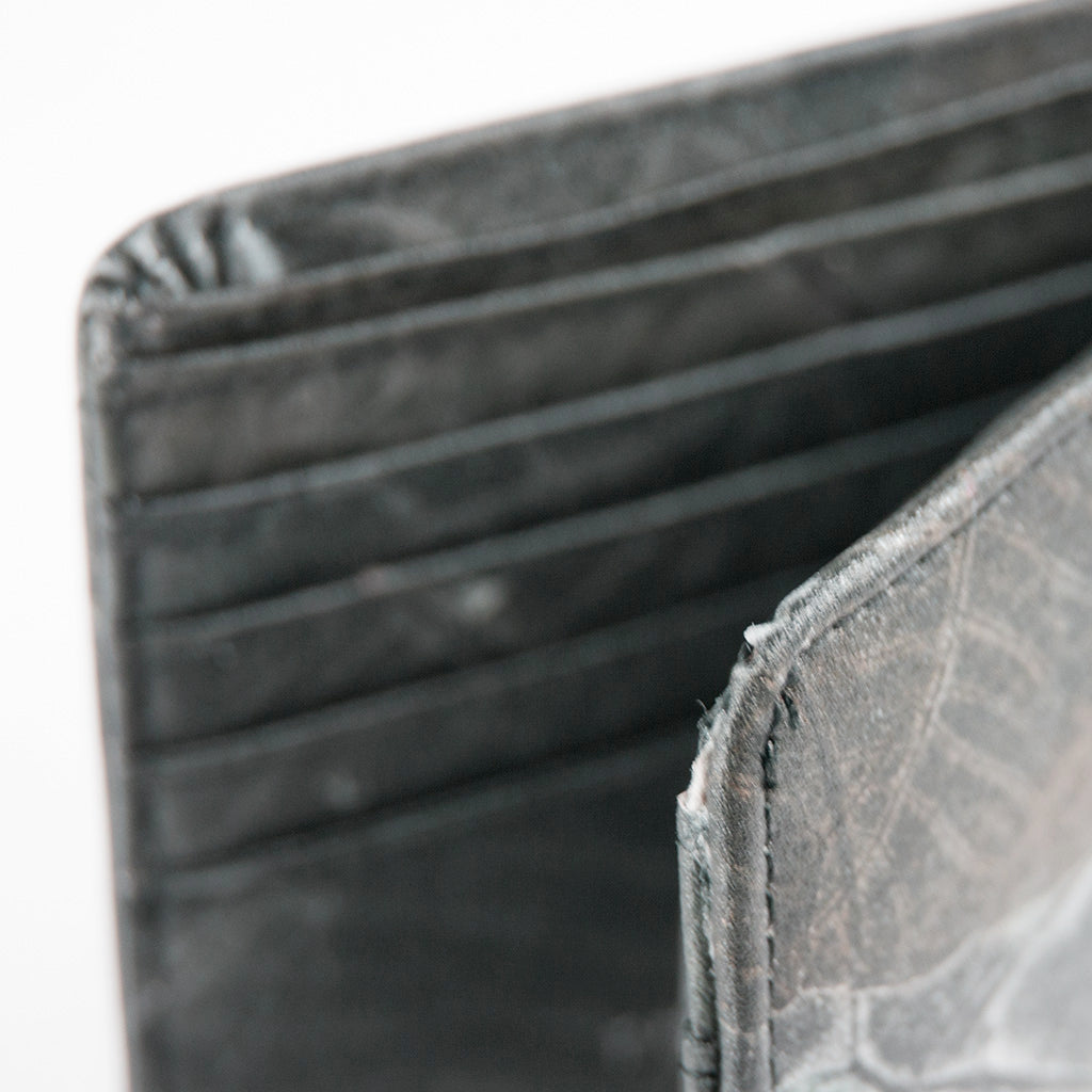 Tree Leaf Vegan Wallet - Black