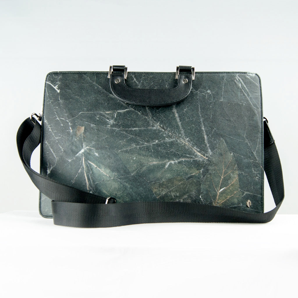 Black Leaf Work Bag