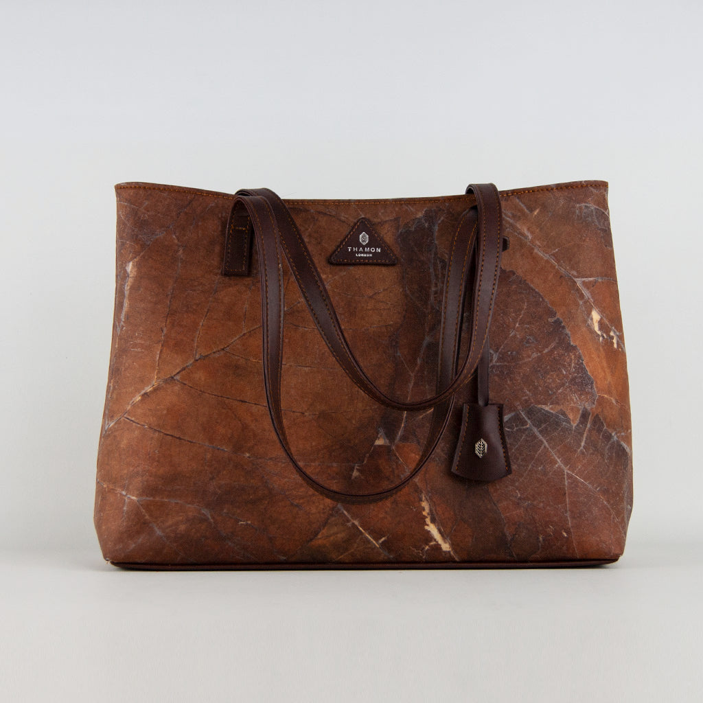 Brown Leaf Tote Bag