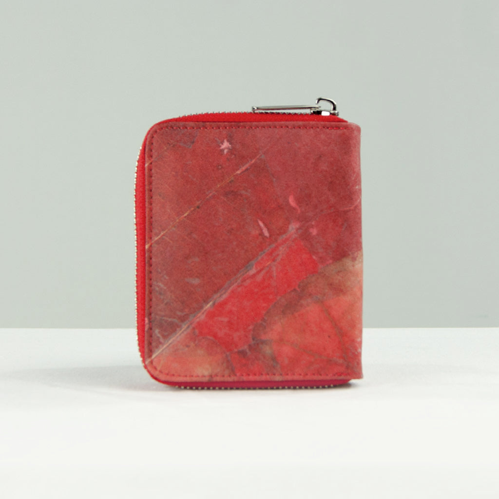 Real Leaf Zip Wallet - Red