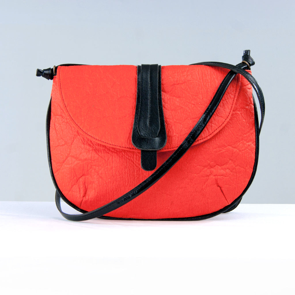 Red Piñatex® Crossbody Bag