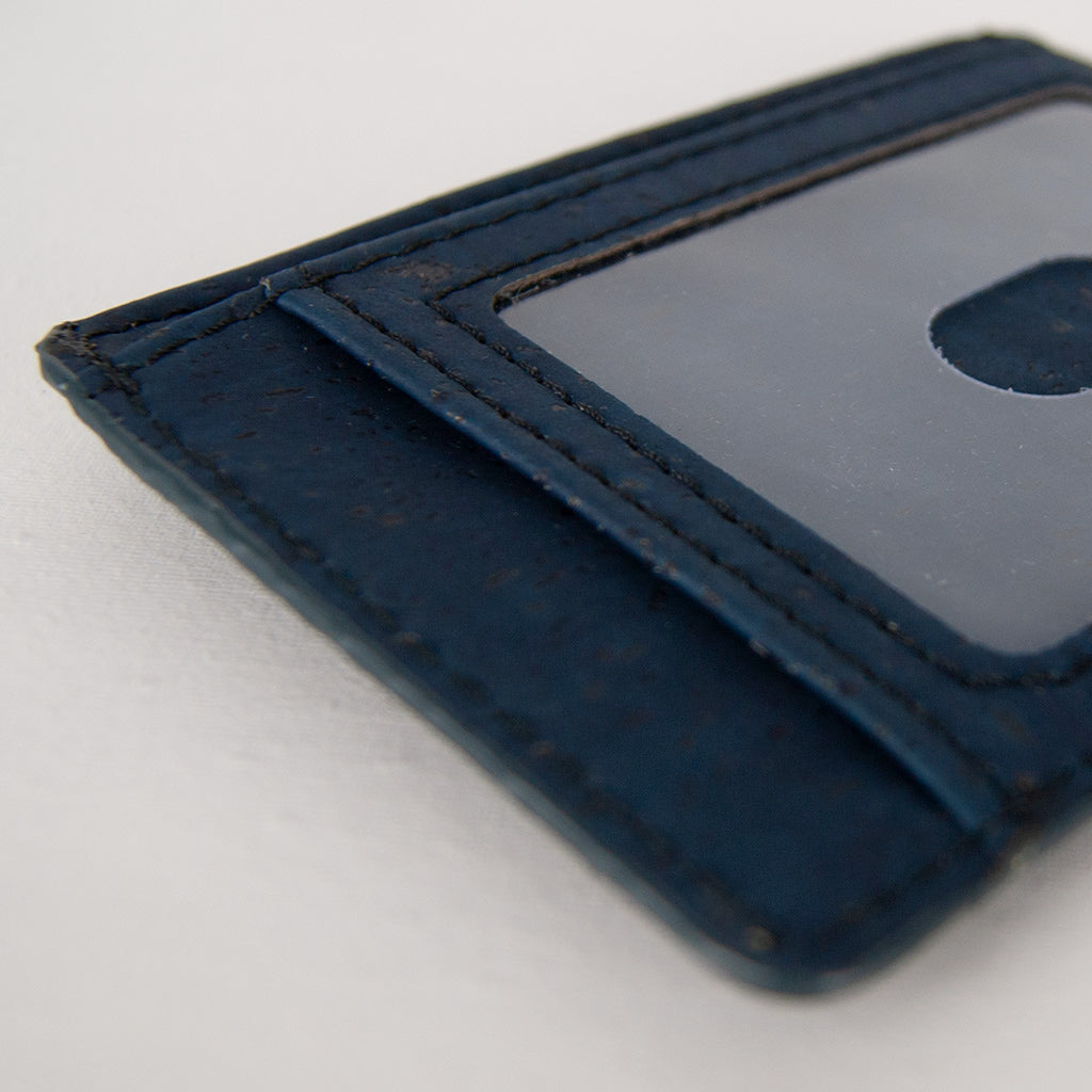 Cork Card Wallet RFID Safe - Blue