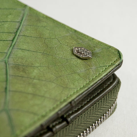 Real Leaf Zip Wallet - Green