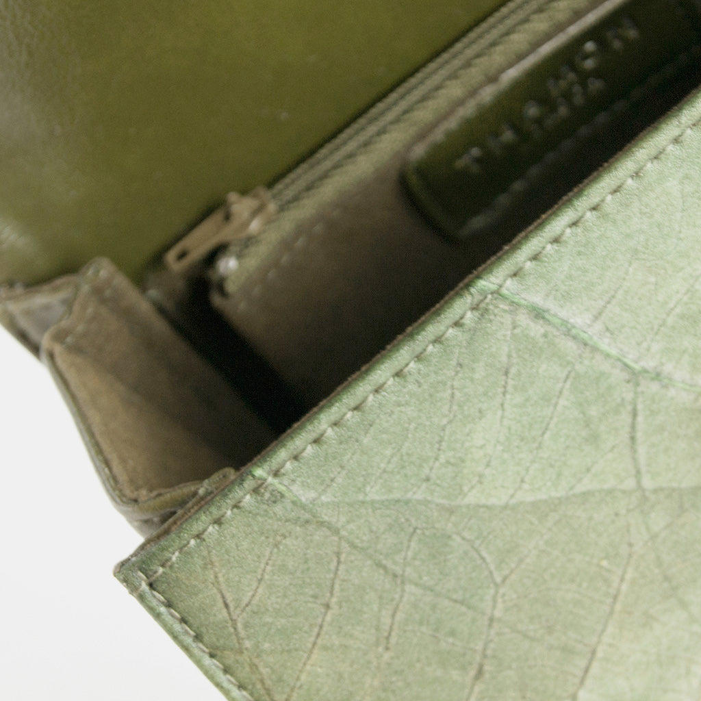 Green Real Leaf Box Bag