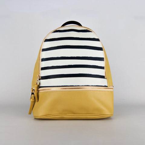 Vegan Mustard & Stripes Backpack