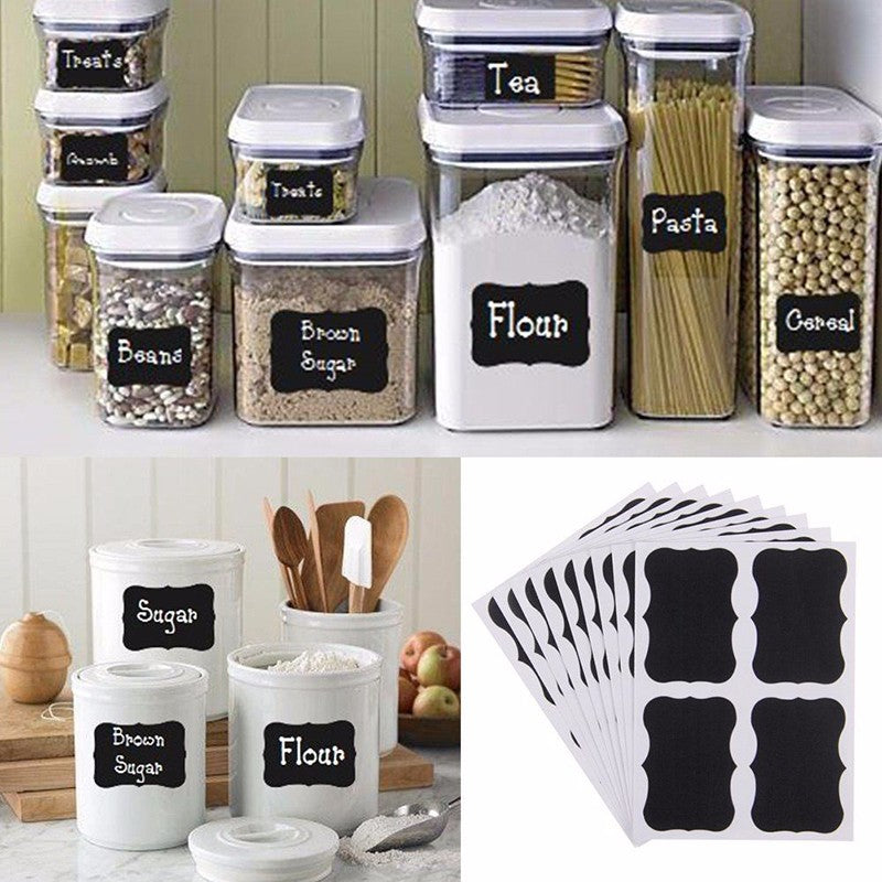 Blackboard Vinyl Stickers for Creative Labeling (40 pcs)