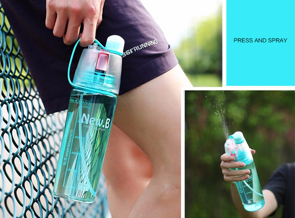 Innovative Drinking Water Bottle with Spray Mist (400ml & 600ml)