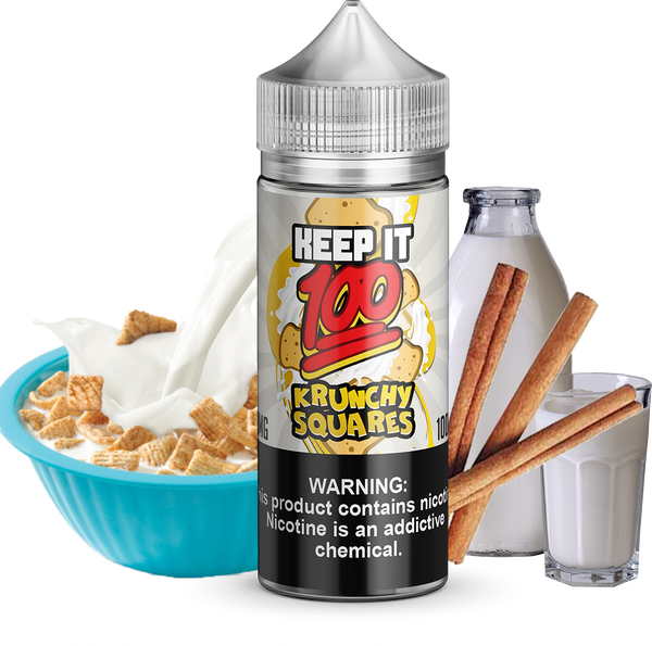 Krunchy Squares 100ml E-Liquid by Keep it 100 (100ml 0mg)