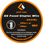 Genuine Geek Vape SS Fused Clapton Wire 10ft