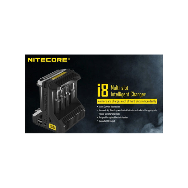 Genuine Nitecore i8 Intellicharger
