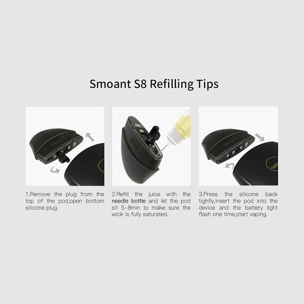 Authentic Smoant Replacement Refillable Pod Cartridge for S8 Starter Kit