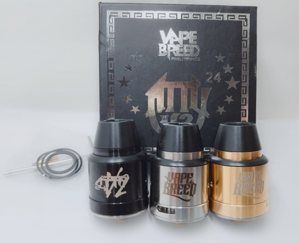 Vape Breed Atty V2 Styled RDA w/ BF Pin - 24mm Diameter