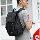 Gentlemen Bag Series:  Anti-theft Backpack with USB Charging Port