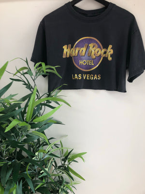 Women's VTG Hard rock LAS VEGAS CROP