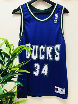 Vintage Champion Ray Allen Bucks Jersey