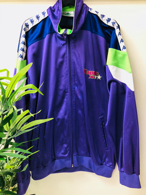 Kappa purple/lime windbreaker