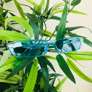 Light blue skinny shades