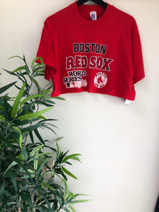 WOMENS BOSTON RED SOX CROP TOP