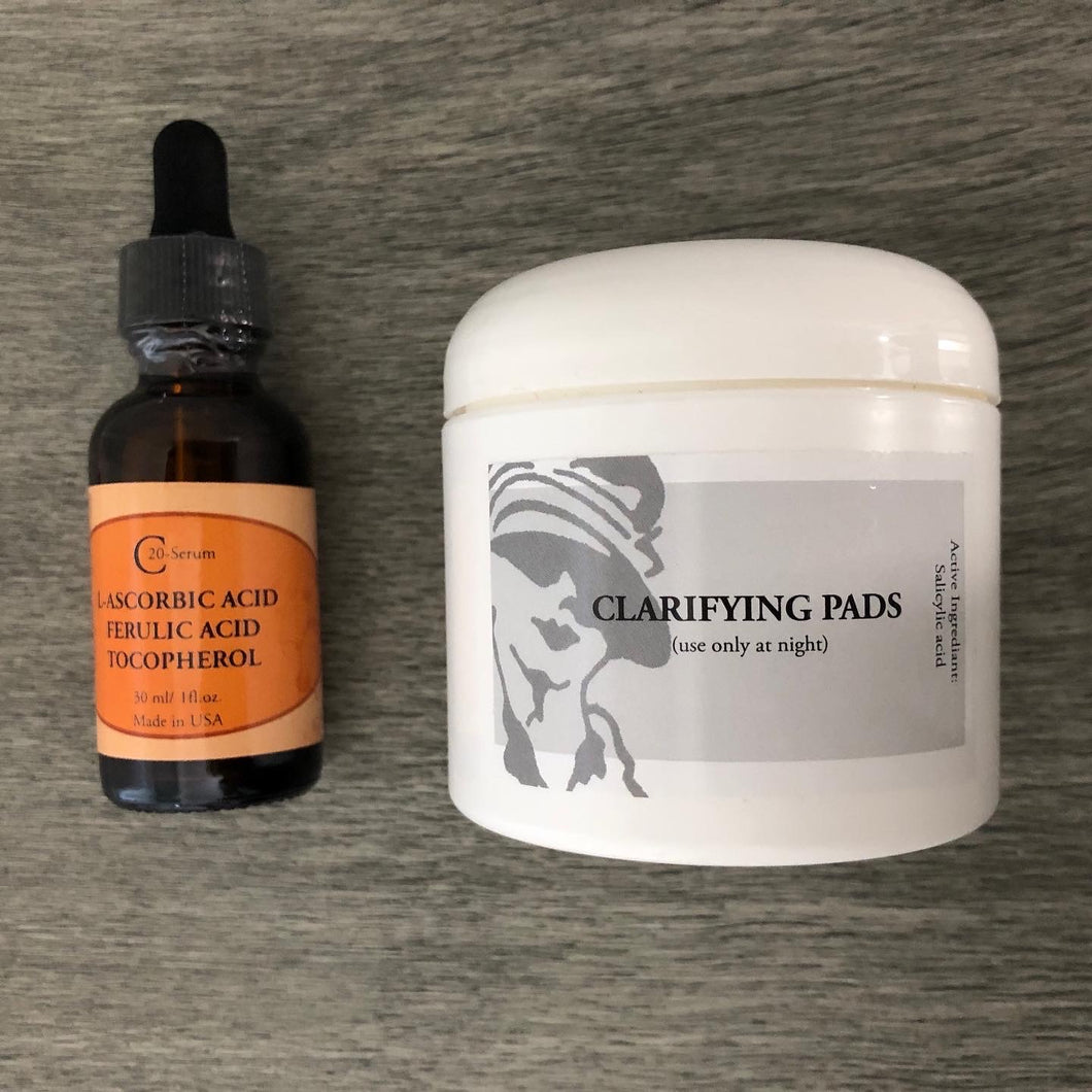 C-20 SERUM & CLARIFYING PADS (SAVE EXTRA $5 WHEN PURCHASED TOGETHER)