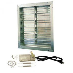 "12"" ALUMINUM INTAKE POWER SHUTTER WITH MOTORIZED KIT & 9' CORD"