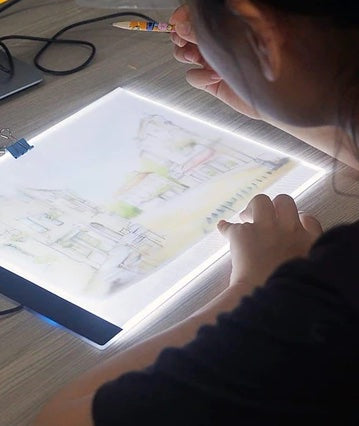Tablette Lumineuse LED A4 Dessin Broderie