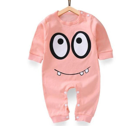 Combinaison Pyjama À Motifs en Coton - Monstre Rose Pyjama - Combinaison - Vêtements Enfants Monstre Rose / 3M - Parents Sereins