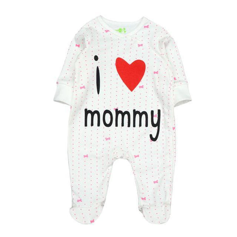 Combinaison Pyjama I Love Mommy Pyjama - Combinaison - Vêtements Enfants 12M - Parents Sereins