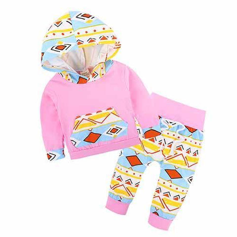 Ensemble 2 Pièces Rose Symbols - Sweat à Capuche & Pantalon Ensemble - Vêtements Enfant Bébé 18M - Parents Sereins