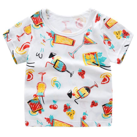 T-Shirt Imprimé - Cocktail - Blanc T-Shirt - Vêtements Enfant Cocktail - Blanc / 2-3 ans - Parents Sereins
