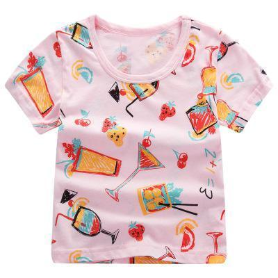 T-Shirt Imprimé - Cocktail - Rose T-Shirt - Vêtements Enfant Cocktail - Rose / 2-3 ans - Parents Sereins