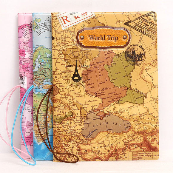 Sophisticated World Map Passport Cover