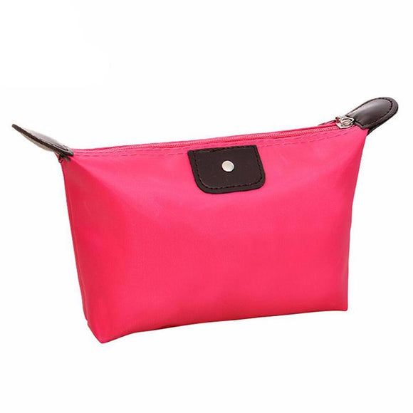 Hottest Pink Travel Makeup Bag