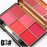 MISS ROSE Blusher Pigmentation 6 Color Blusher Makeup Palette Glow Kit Blush Make Up Face Bronzers Contouring Cosmetic A3