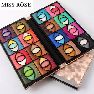 MISS ROSE Pigment Eyeshadow Palette Makeup Beauty Profissional Make Up Warm Color Waterproof Eye Shadow Powder Metallic Shimmer