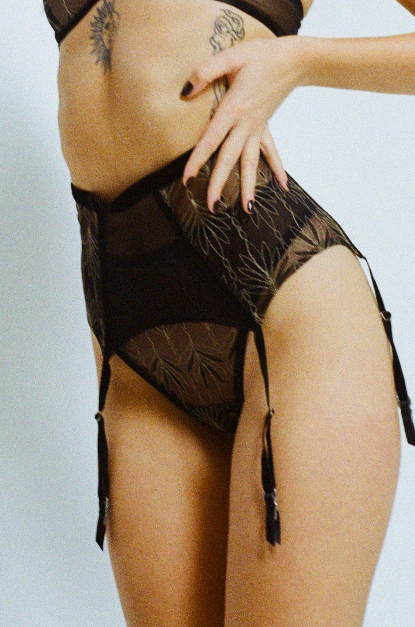 Catherine I suspender belt