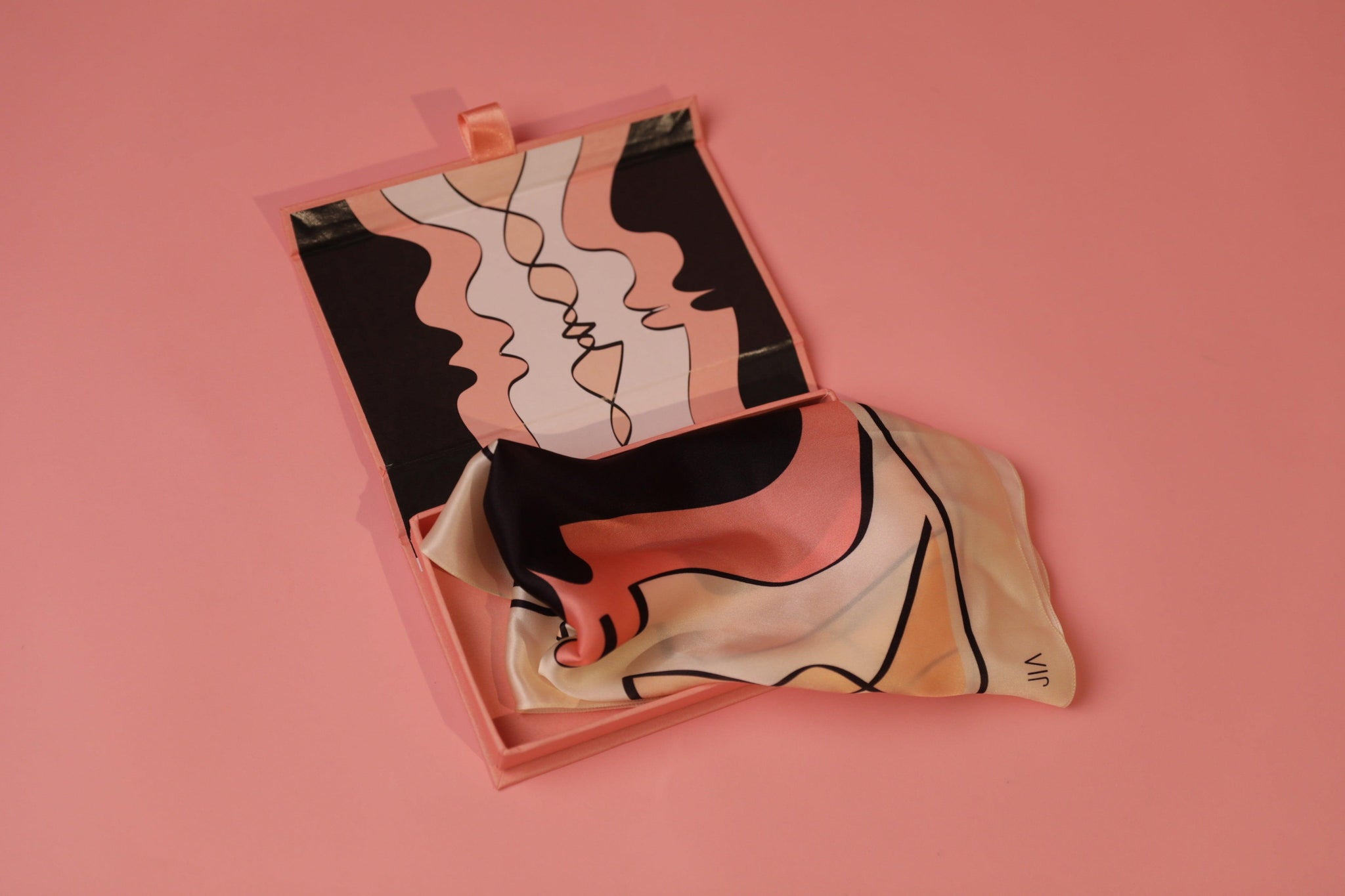 'CHROMOSOME' SILK SCARF