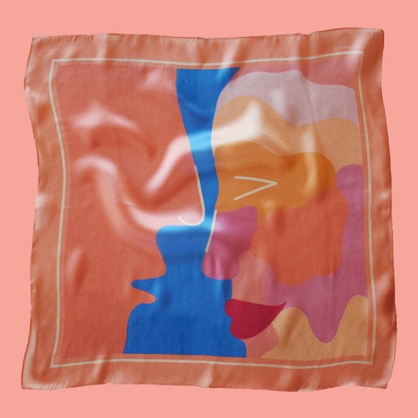 'KISS ME  MAN' SILK SCARF