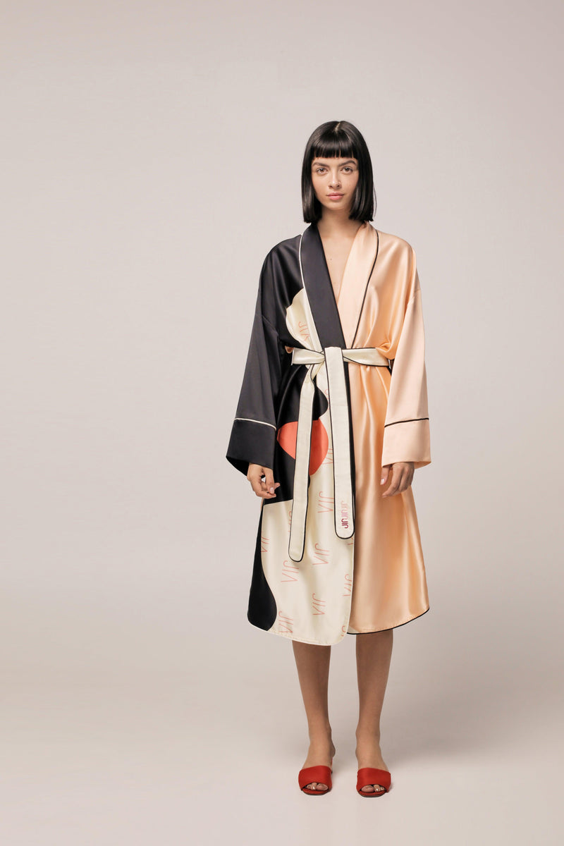 'KISS ME, LIKE A SUN' SILK ROBE