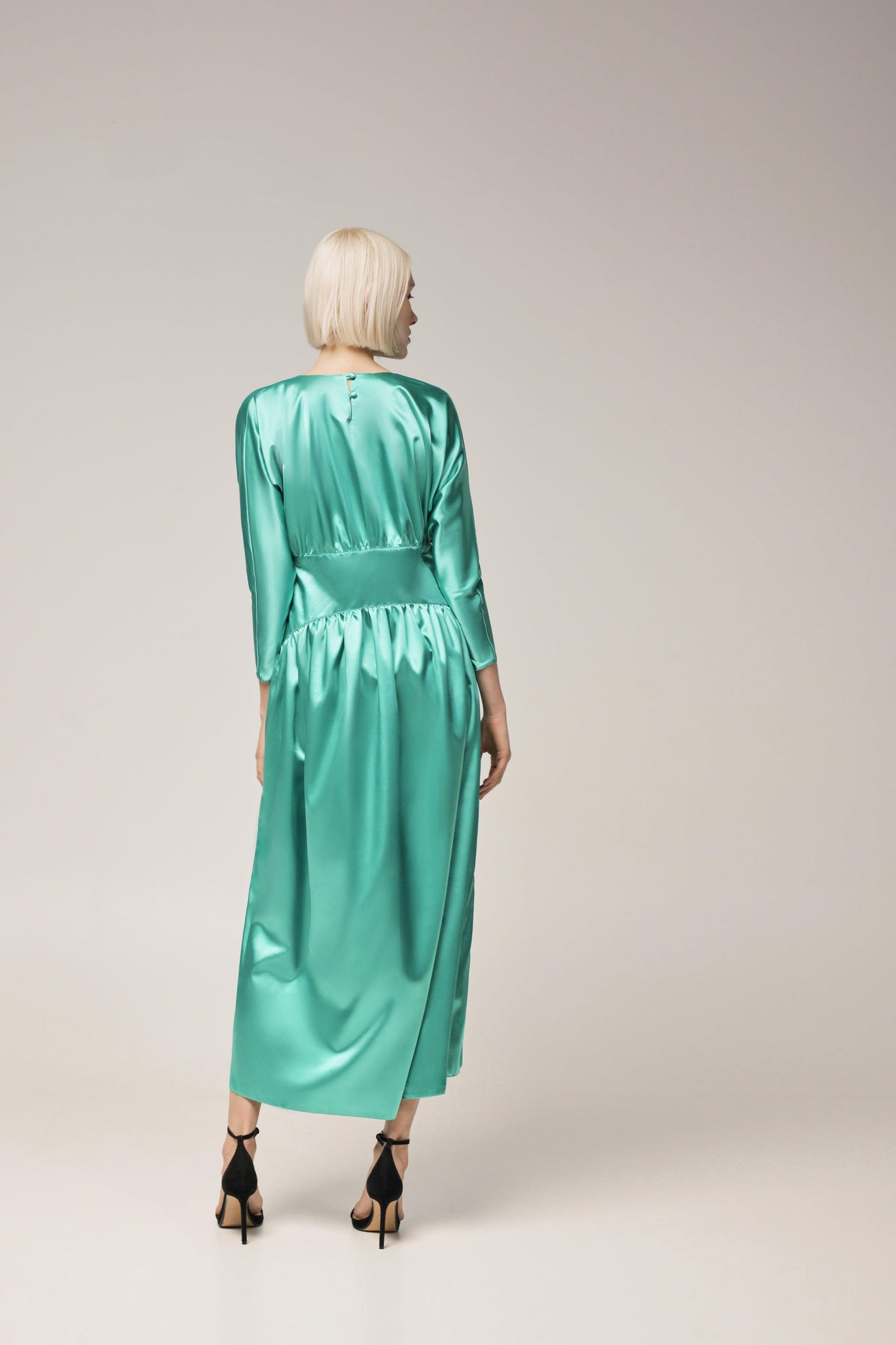MENTOL satin DRESS - JIA atelier