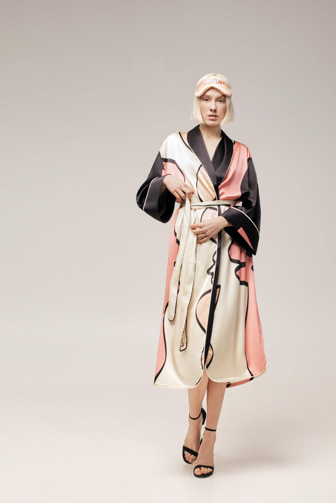 'CHROMOSOME' SILK ROBE