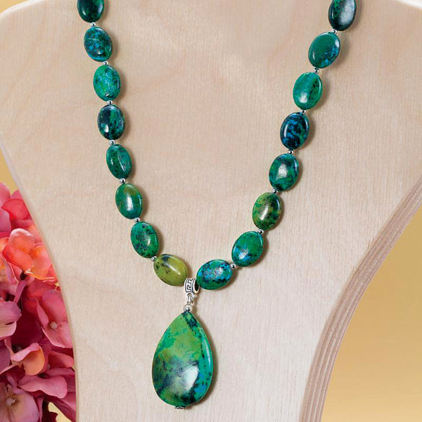 Earth & Sea Chrysocolla Necklace