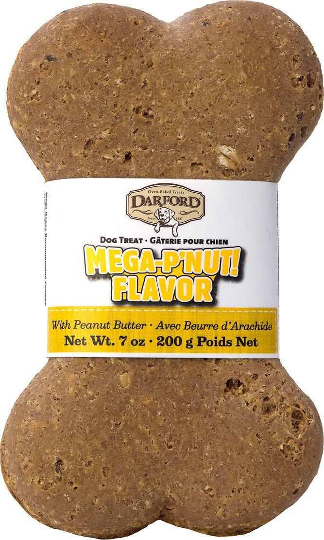 Darford Mega P'Nut Flavor Bone Dog Treat, 7oz.-Le Pup Pet Supplies and Grooming