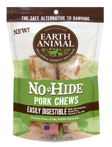 Earth Animal No-Hide Pork Chews Dogs Treats-Le Pup Pet Supplies and Grooming