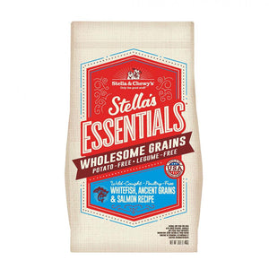Stella & Chewy's Essentials Wholesome Grains Whitefish, Ancient Grains & Salmon Recipe Dog Food