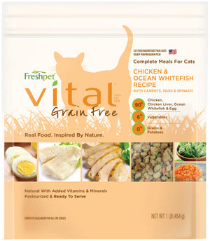 Freshpet Vital Complete Meals Grain-Free Chicken & Ocean White Fish Fresh Cat Food