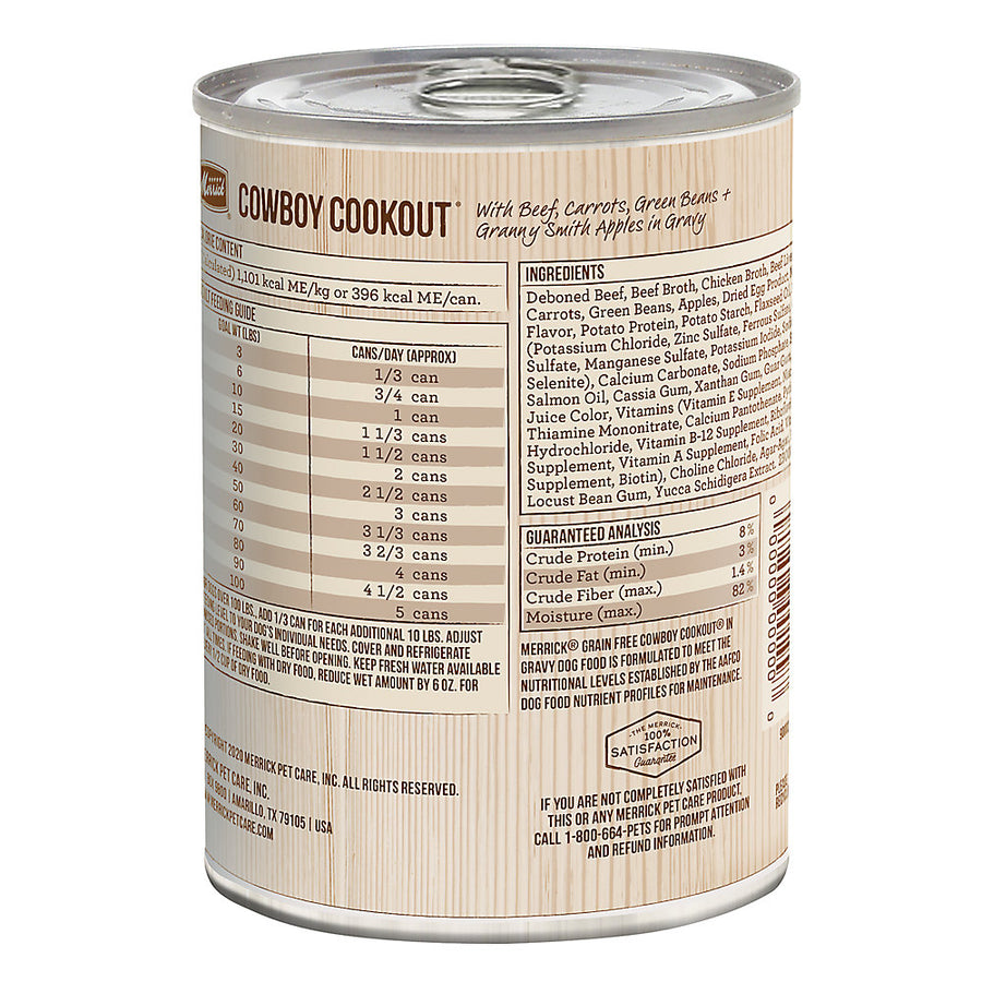 Merrick Grain Free Classic Cowboy Cookout Adult Wet Canned Dog Food