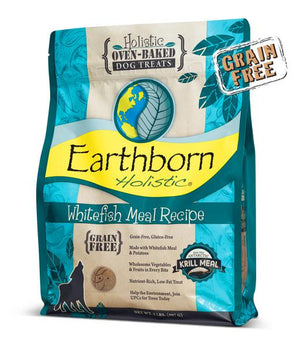 Earthborn Whitefish Meal Recipe Grain-Free Oven Baked Biscuits Dog Treats-Le Pup Pet Supplies and Grooming