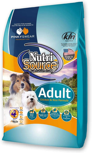 NutriSource Adult Chicken & Rice Formula Pink Swear Foundation Dry Dog Food